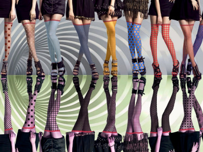 Which shoe models visually shorten the legs
