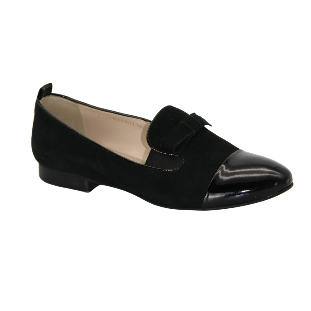 Loafers-monks with small heels women's black NEXT SHOES (Poland) demi-season art k-0149-02-03-czarny model 2977