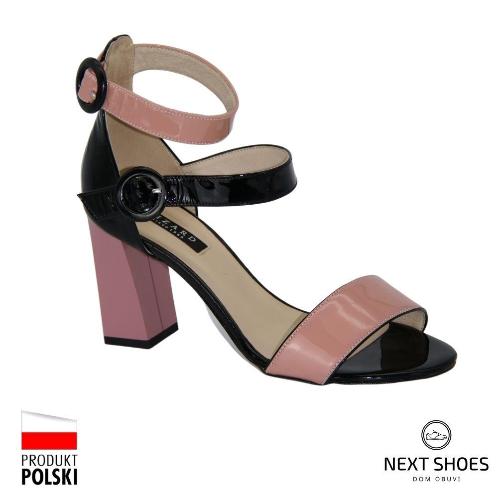 Босоножки на среднем каблуке женские бежевые NEXT SHOES (Польша) летние арт 3951-3945-280 модель 3050