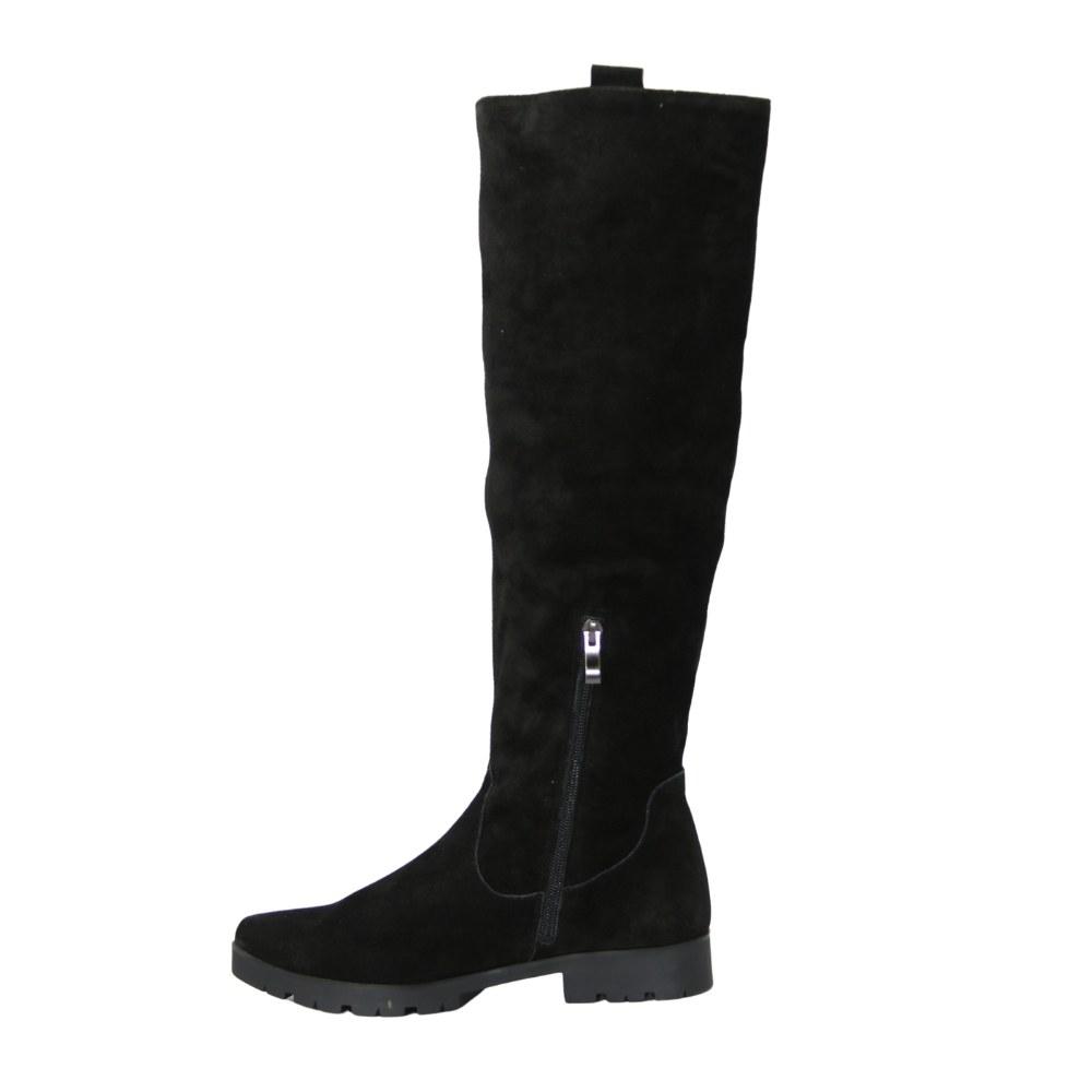 Женские черные сапоги демисезонные NEXT SHOES (Польша) Натуральная замша, арт 618145 модель 3355