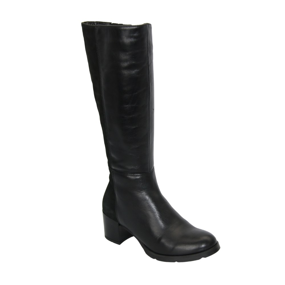 Женские черные сапоги демисезонные NEXT SHOES (Польша) Натуральная кожа, арт 0674-0001-061-3 модель 3446