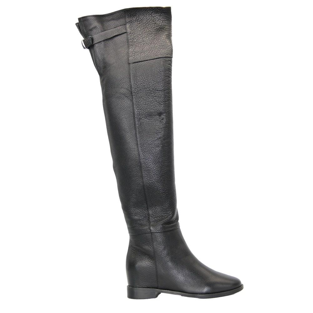 Женские черные сапоги демисезонные NEXT SHOES (Польша) Натуральная кожа, арт sb-16-10-b модель 3472