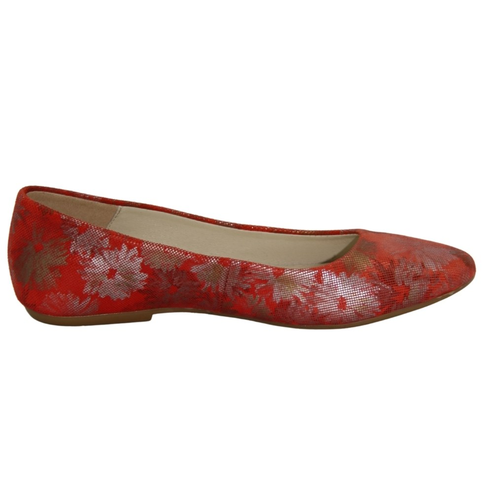 Женские красные балетки летние NEXT SHOES (Польша) Натуральная кожа, арт 786500 модель 3574