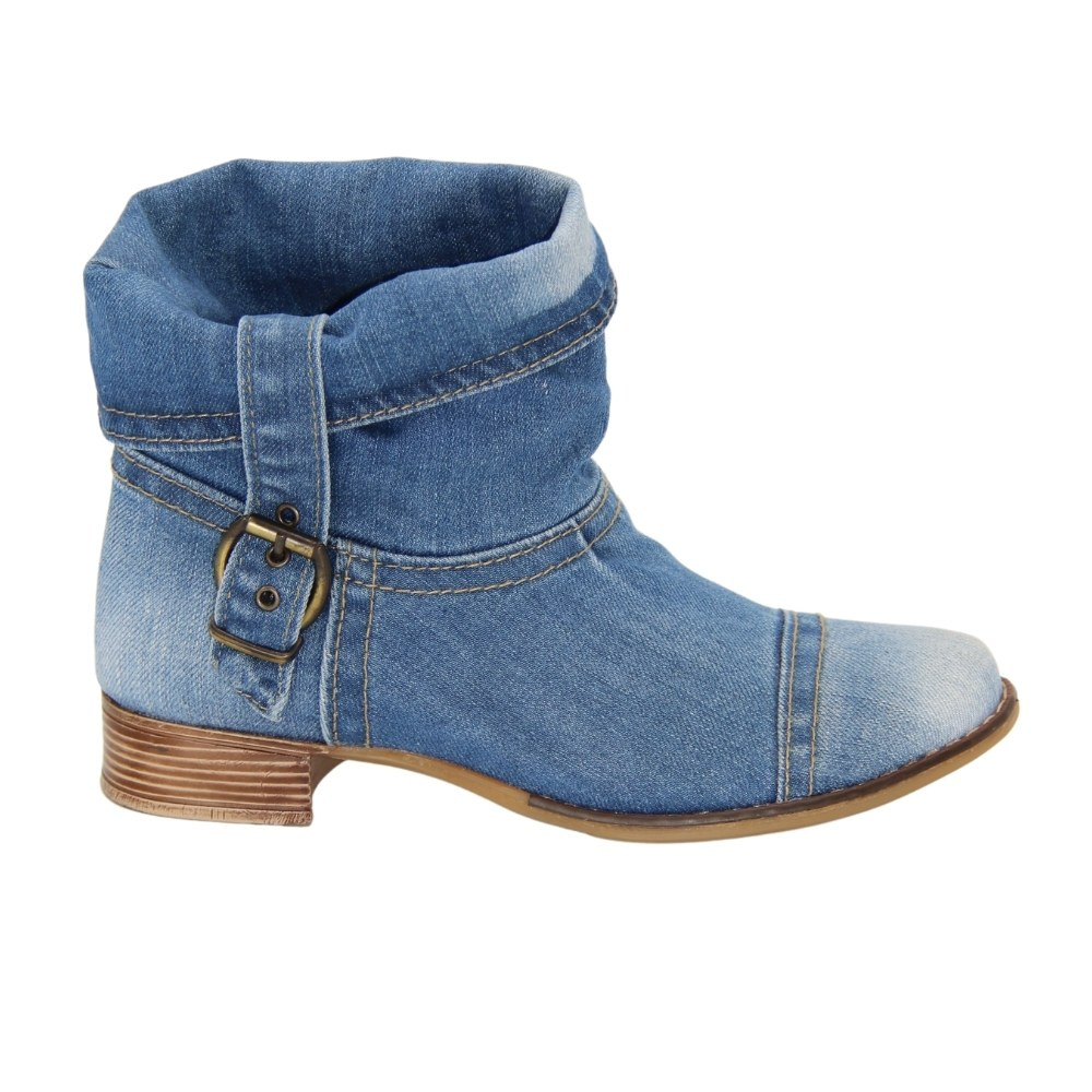 Женские ботинки джинсовые летние NEXT SHOES (Польша) Натуральная кожа, арт lanqler40c201 модель 3646