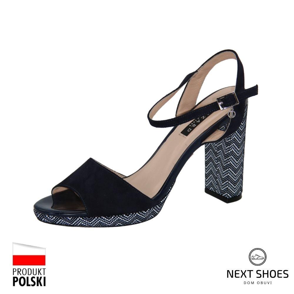 Sandals with medium heels female black NEXT SHOES (Poland) summer art 04284-0150-01 model 3677