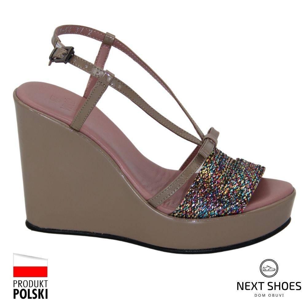 Sandals on a high platform women's multicolored NEXT SHOES (Ukraine) summer art 105754-grul-15p model 3755