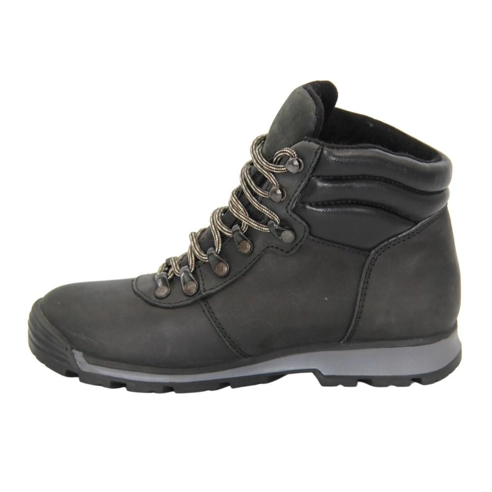 Женские черные ботинки спорт на шнуровке зимние NEXT SHOES (Польша) Натуральная кожа, арт 211-6501-7-1096 модель 3809