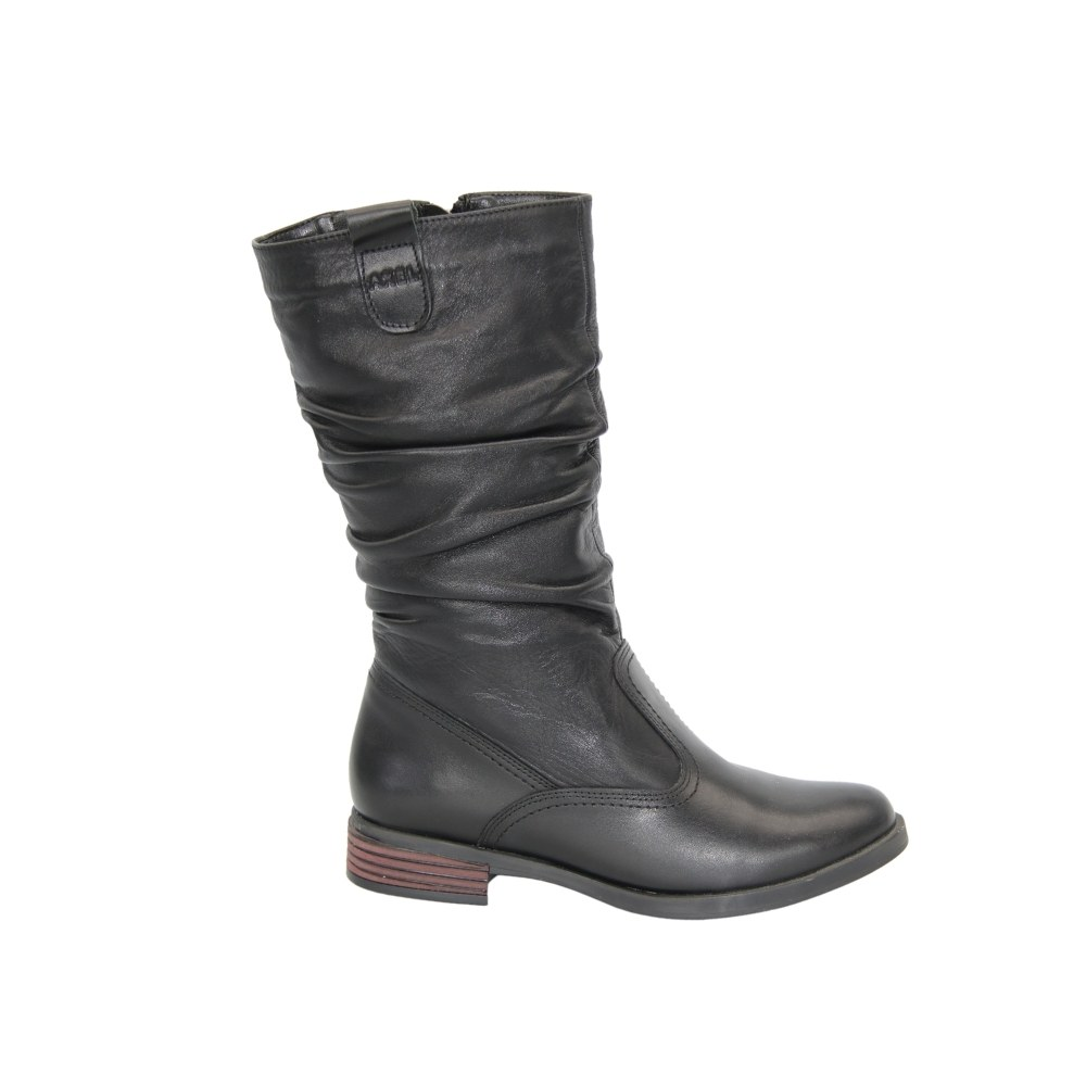 Women's black ankle boots on a platform with a snake winter NEXT SHOES (Poland) Genuine leather, art 4278-czarny model 3832