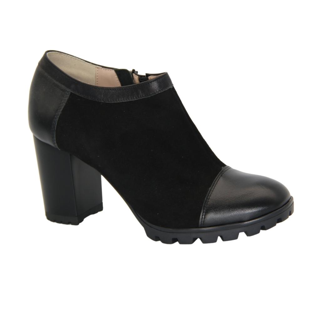 Chunks shoes with medium heels for women black NEXT SHOES (Poland) demi-season art 0685p-041-001-1 model 3873