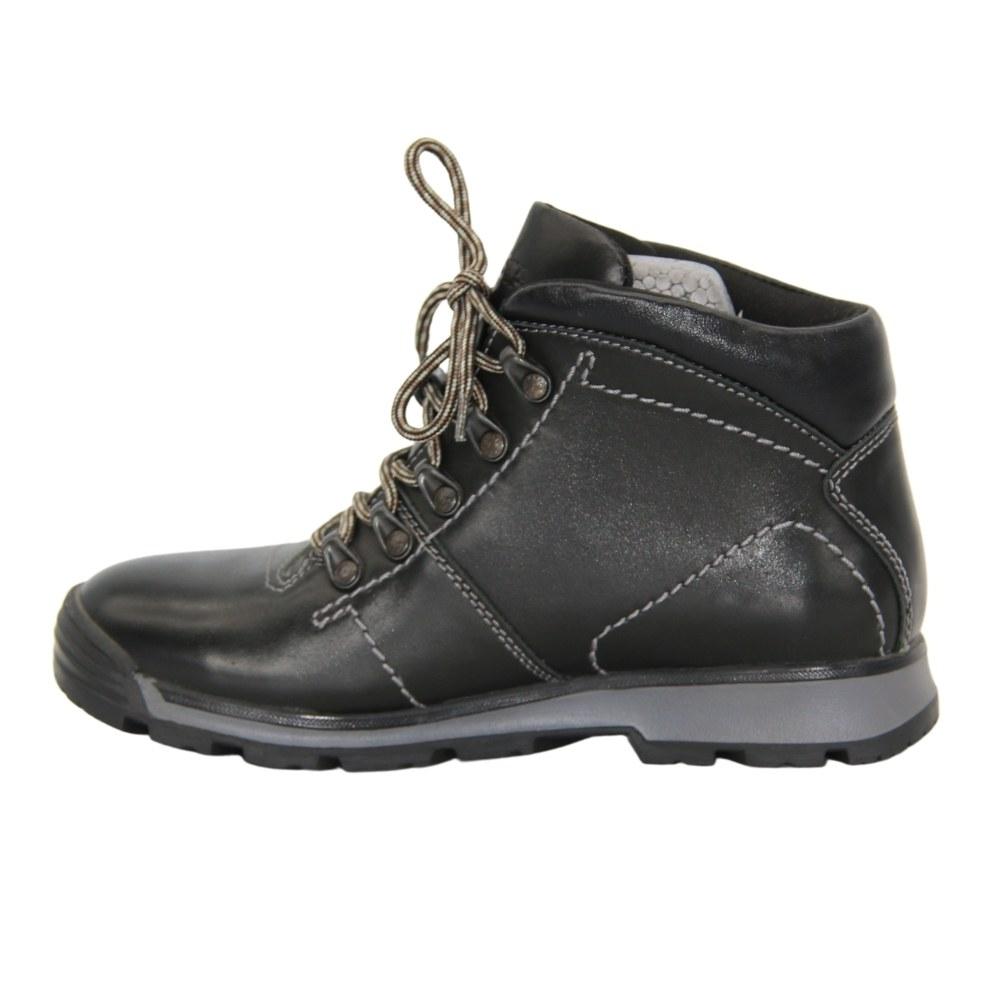 Женские черные ботинки спорт на шнуровке зимние NEXT SHOES (Польша) Натуральная кожа, арт 191-6470-7-1048 модель 3943