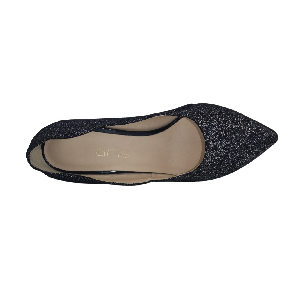 Женские серые туфли-лодочки на среднем каблуке демисезонные NEXT SHOES (Польша) Натуральная кожа, арт 4564 модель 3970