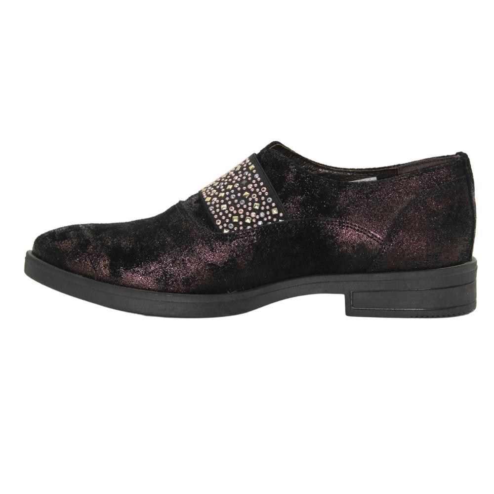 Женские черные туфли на низком ходу демисезонные NEXT SHOES (Польша) Натуральная кожа, арт  модель 3983