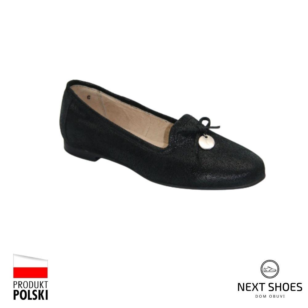 Туфли женские черные NEXT SHOES (Польша) демисезонные арт 2001-4165-1-1006 модель 4001