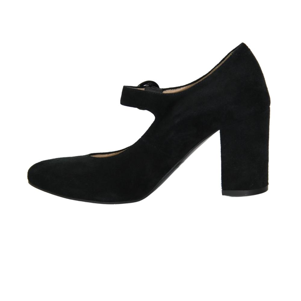 Mary Jane shoes with medium heels women's black NEXT SHOES (Poland) demi-season art 610-1243-czarnyzamsz model 4035