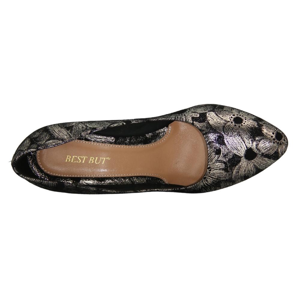 Женские серые туфли-лодочки на среднем каблуке демисезонные NEXT SHOES (Польша) Натуральная кожа, арт 7002707-001 модель 4061
