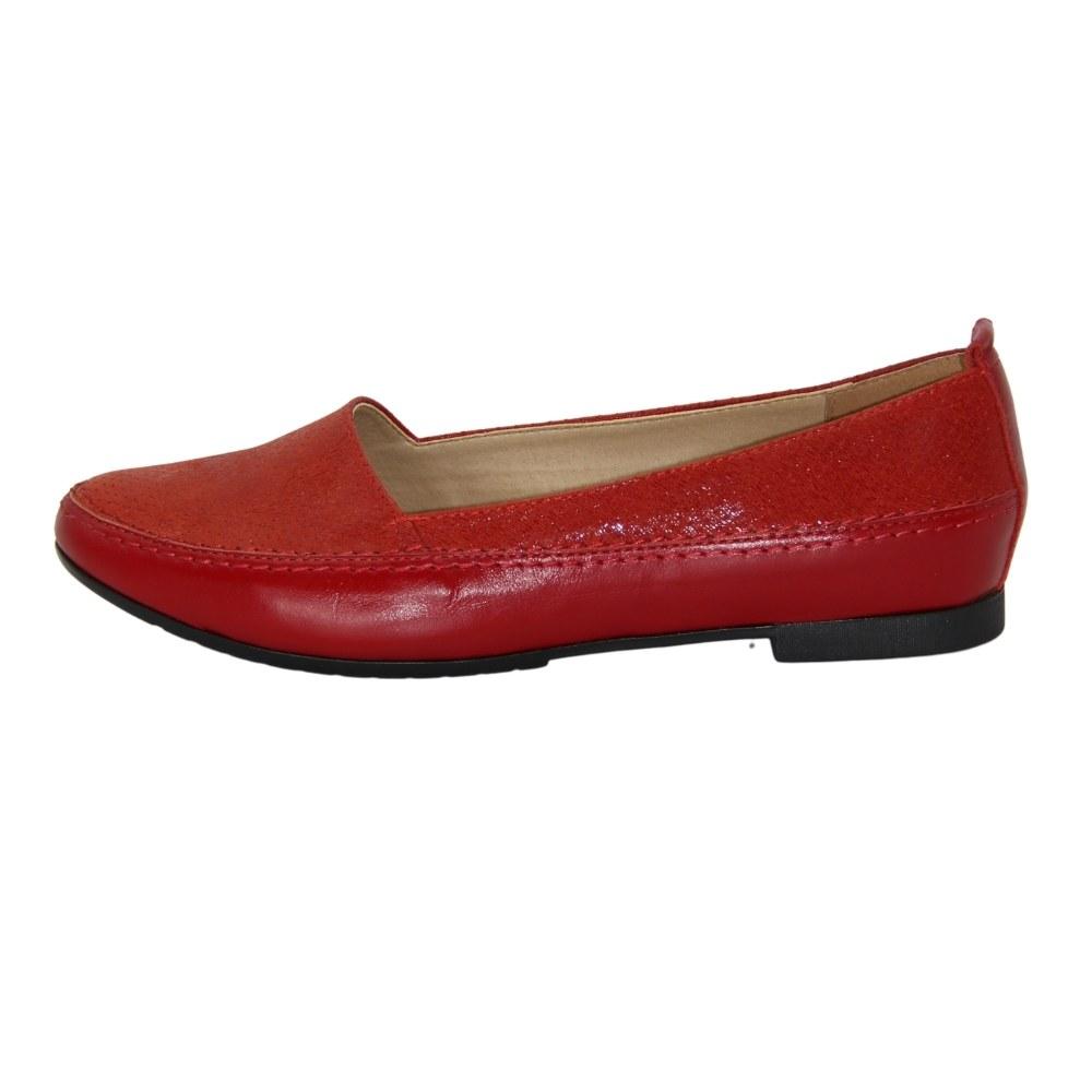 Женские красные балетки демисезонные NEXT SHOES (Польша) Натуральная кожа, арт 387 модель 4065