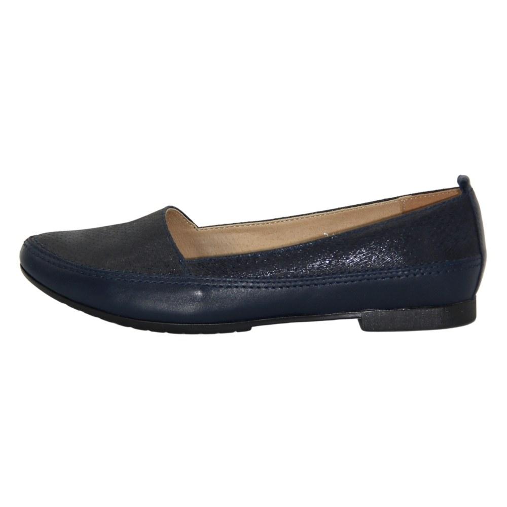 Женские синие балетки летние NEXT SHOES (Польша) Натуральная кожа, арт 387 модель 4084