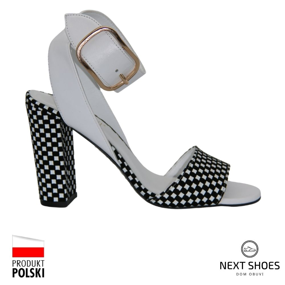 Босоножки на высоком каблуке женские белые NEXT SHOES (Польша) летние арт 42232571257 модель 4137
