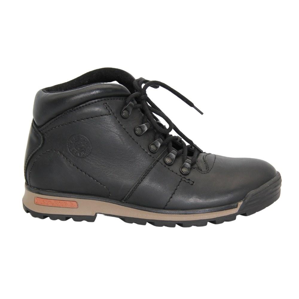 Женские черные ботинки спорт на шнуровке зимние NEXT SHOES (Польша) Натуральная кожа, арт 191-6470-7-1096-czarny модель 4179