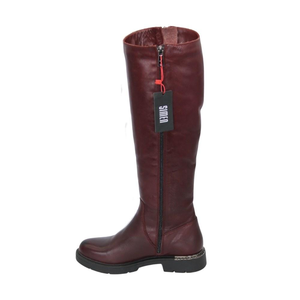 Женские бордовые сапоги зимние NEXT SHOES (Польша) Натуральная кожа, арт 0790a модель 4235