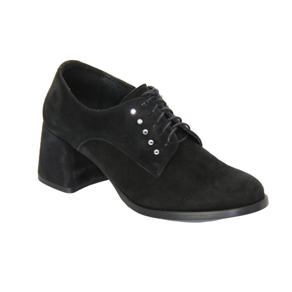 Chunks shoes with medium heels female black NEXT SHOES (Poland) demi-season art 4550-82 model 4241