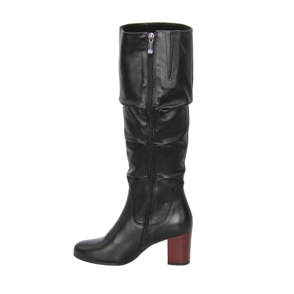 Женские черные сапоги демисезонные NEXT SHOES (Польша) Натуральная кожа, арт 8937-01-ps-czarny модель 4269