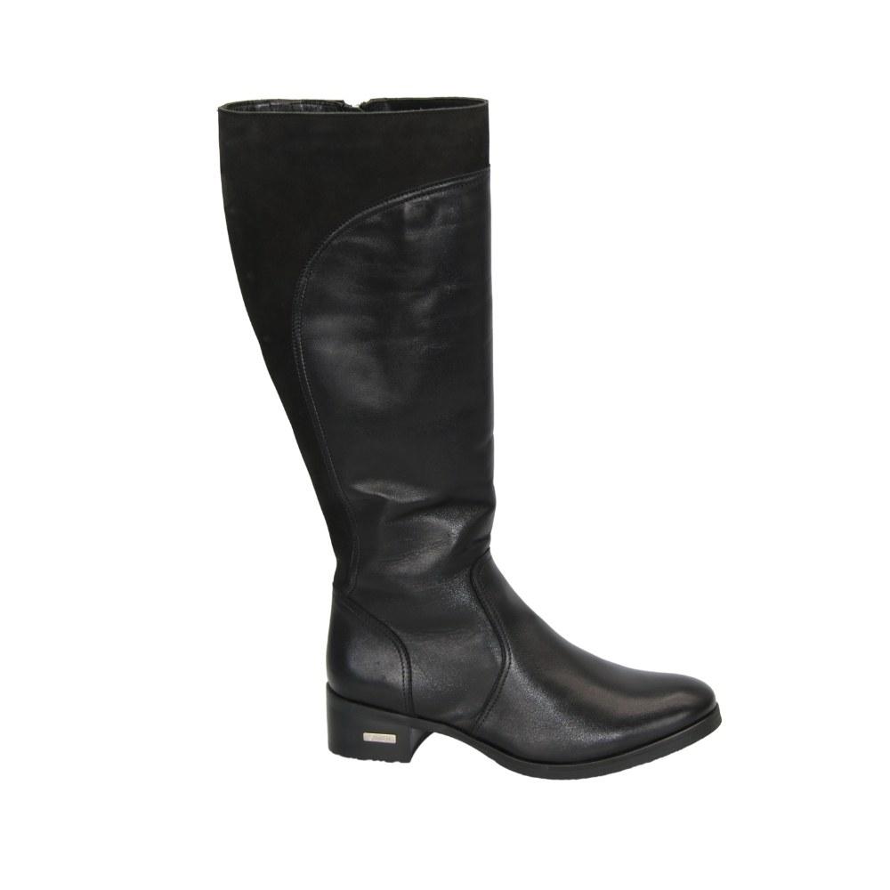 Женские черные сапоги зимние NEXT SHOES (Польша) Натуральная кожа, арт 0568a модель 4272