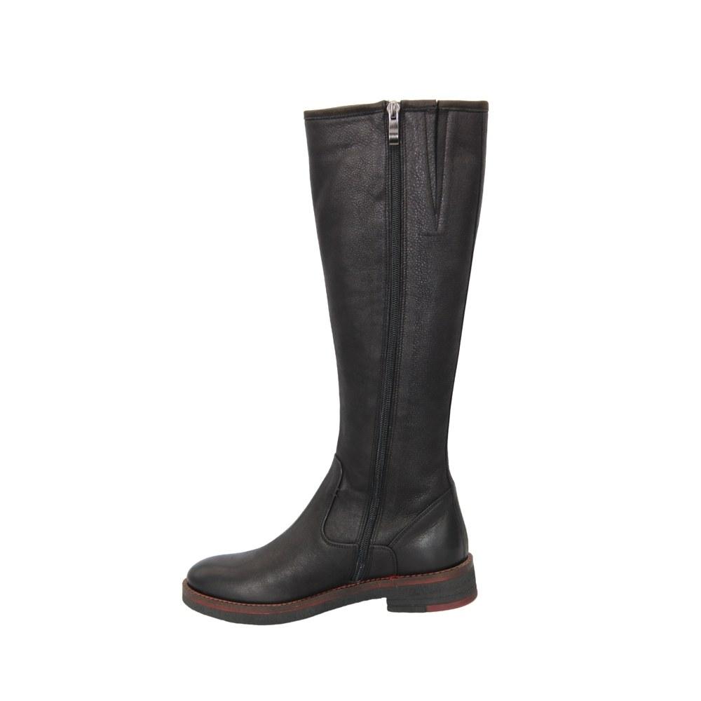Женские черные сапоги демисезонные NEXT SHOES (Польша) Натуральная кожа, арт k5010-378-czarny модель 4290