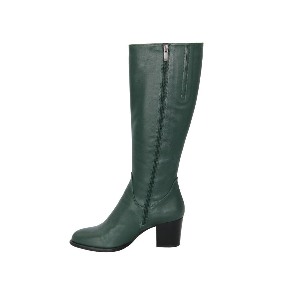 Женские зеленые сапоги демисезонные NEXT SHOES (Польша) Натуральная кожа, арт 157879-790 модель 4297