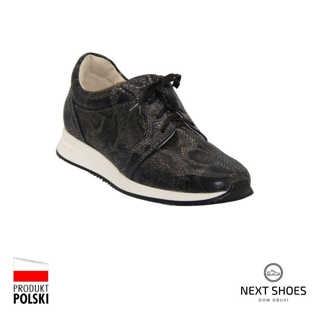 Sneakers female black NEXT SHOES (Poland) demi-season art 201-201-4184-1-3001 model 4411