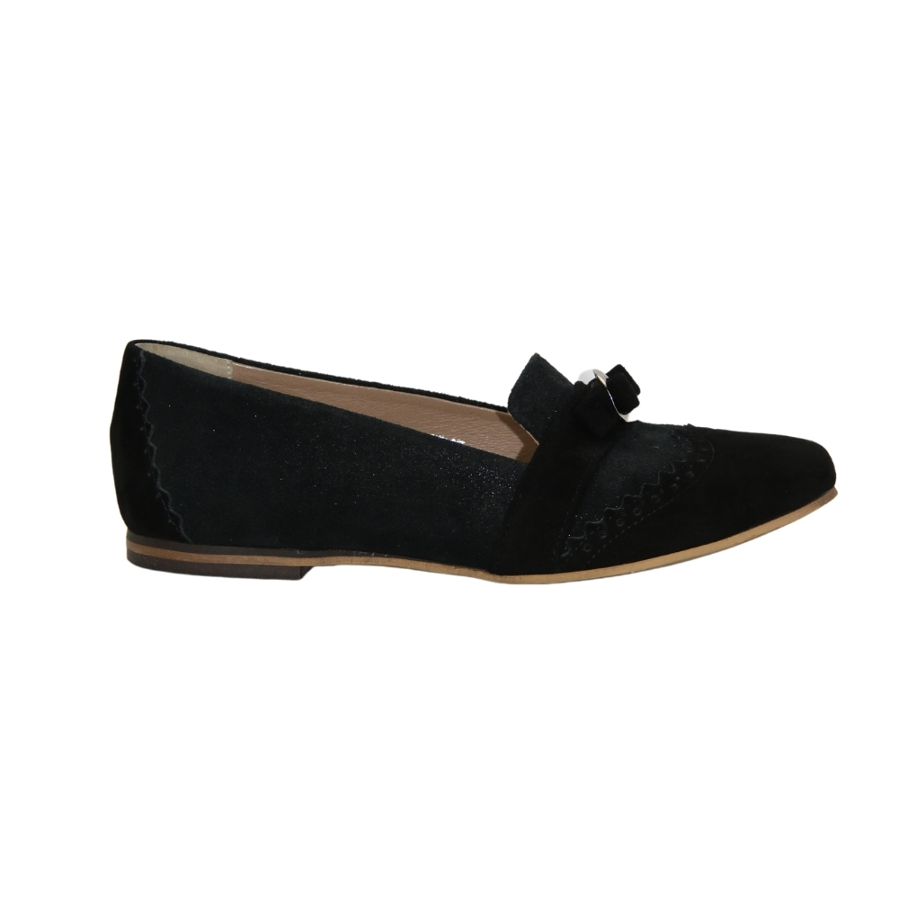 Moccasins-monks with small heels female black NEXT SHOES (Poland) summer art 5000-czarny-z003-s613 model 4414