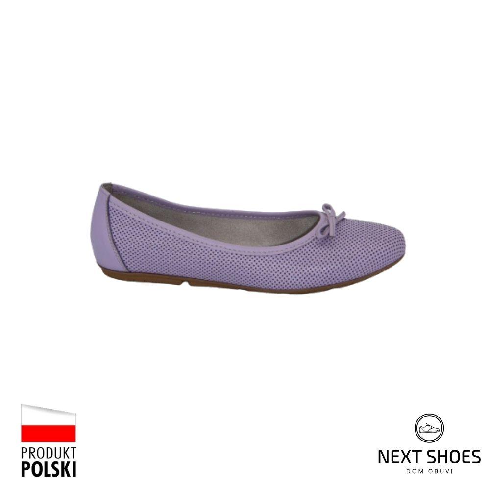 Ballerinas female lilac NEXT SHOES (Poland) summer art model 4420
