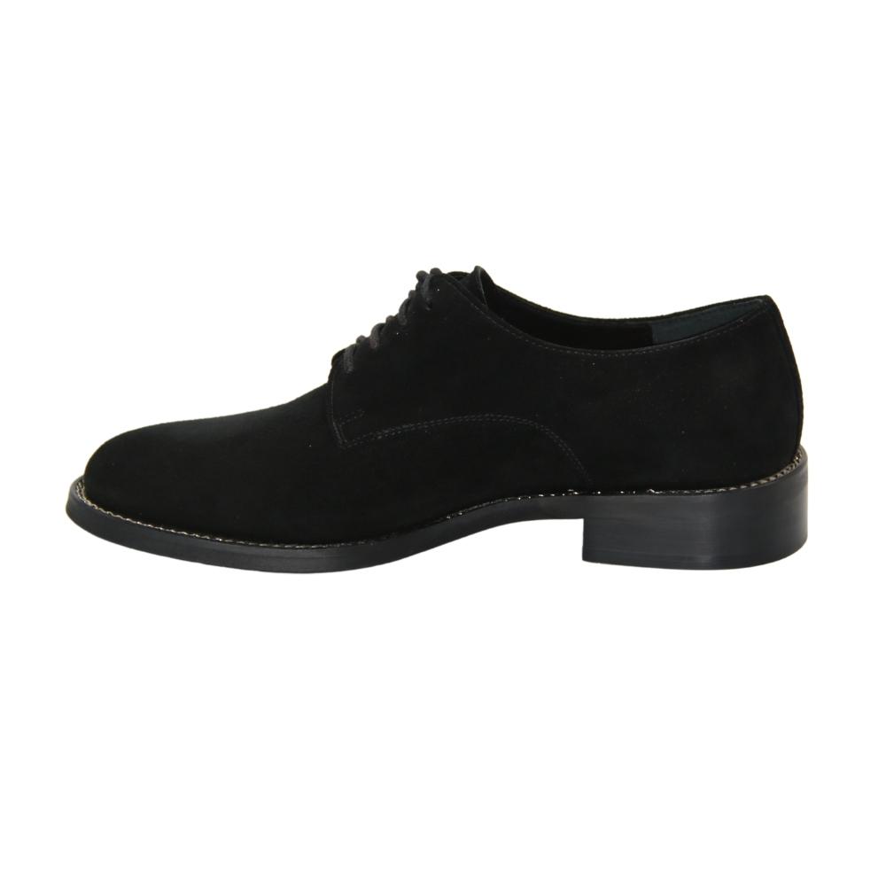 Женские черные туфли оксфорды демисезонные NEXT SHOES (Польша) Натуральная замша, арт 7148294-law модель 4461