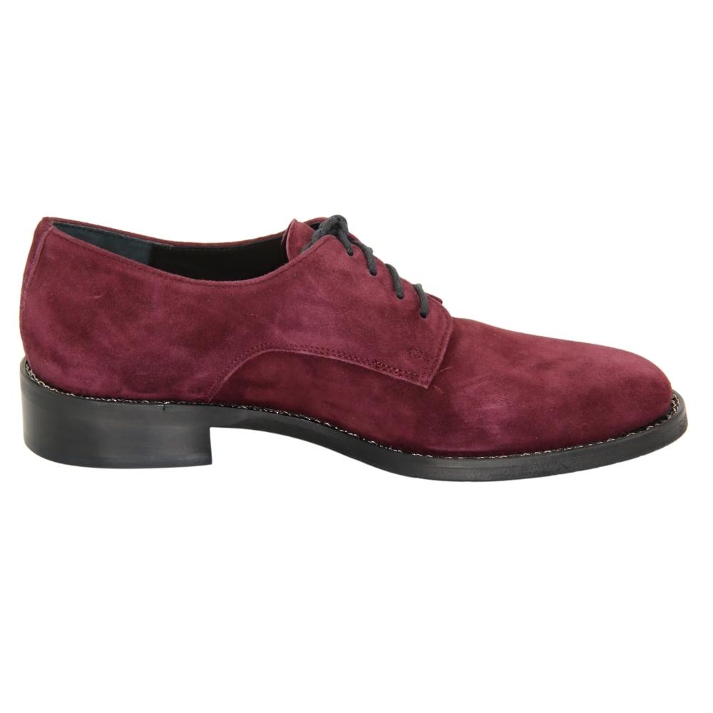 Женские бордовые туфли оксфорды демисезонные NEXT SHOES (Польша) Натуральная замша, арт 7148294-lan модель 4462