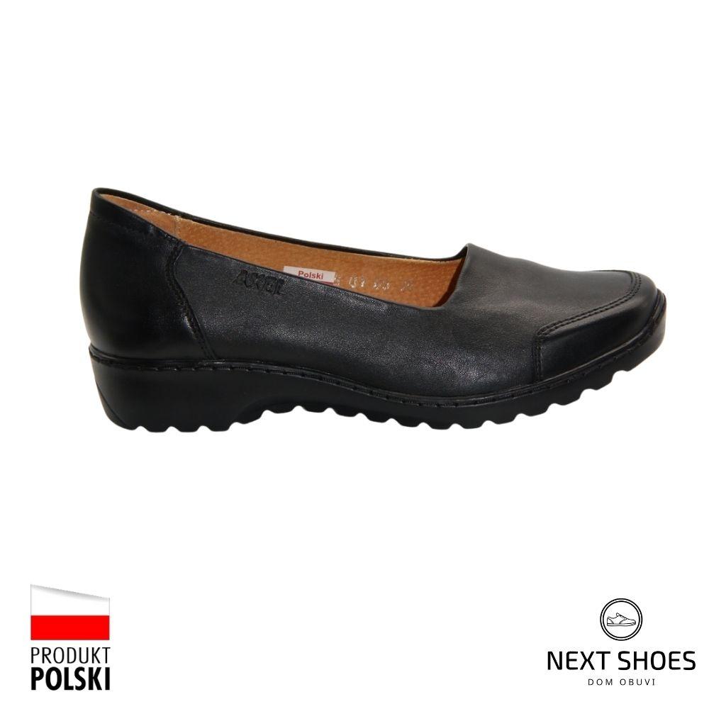 Women's black shoes NEXT SHOES (Poland) demi-season art model 4480