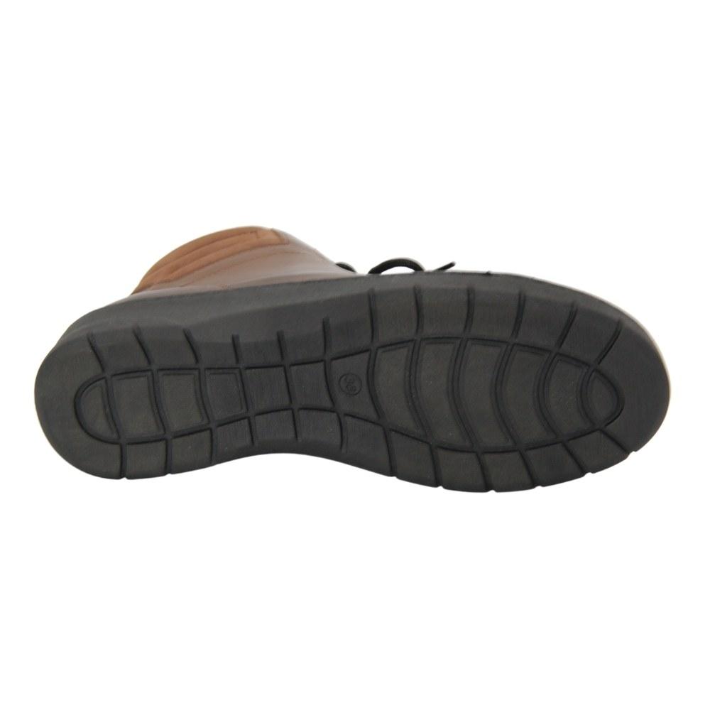 Женские коричневые ботинки на низком ходу со змейкой и шнуровкой демисезонные NEXT SHOES (Польша) Натуральная кожа, арт 0455-braz модель 4509