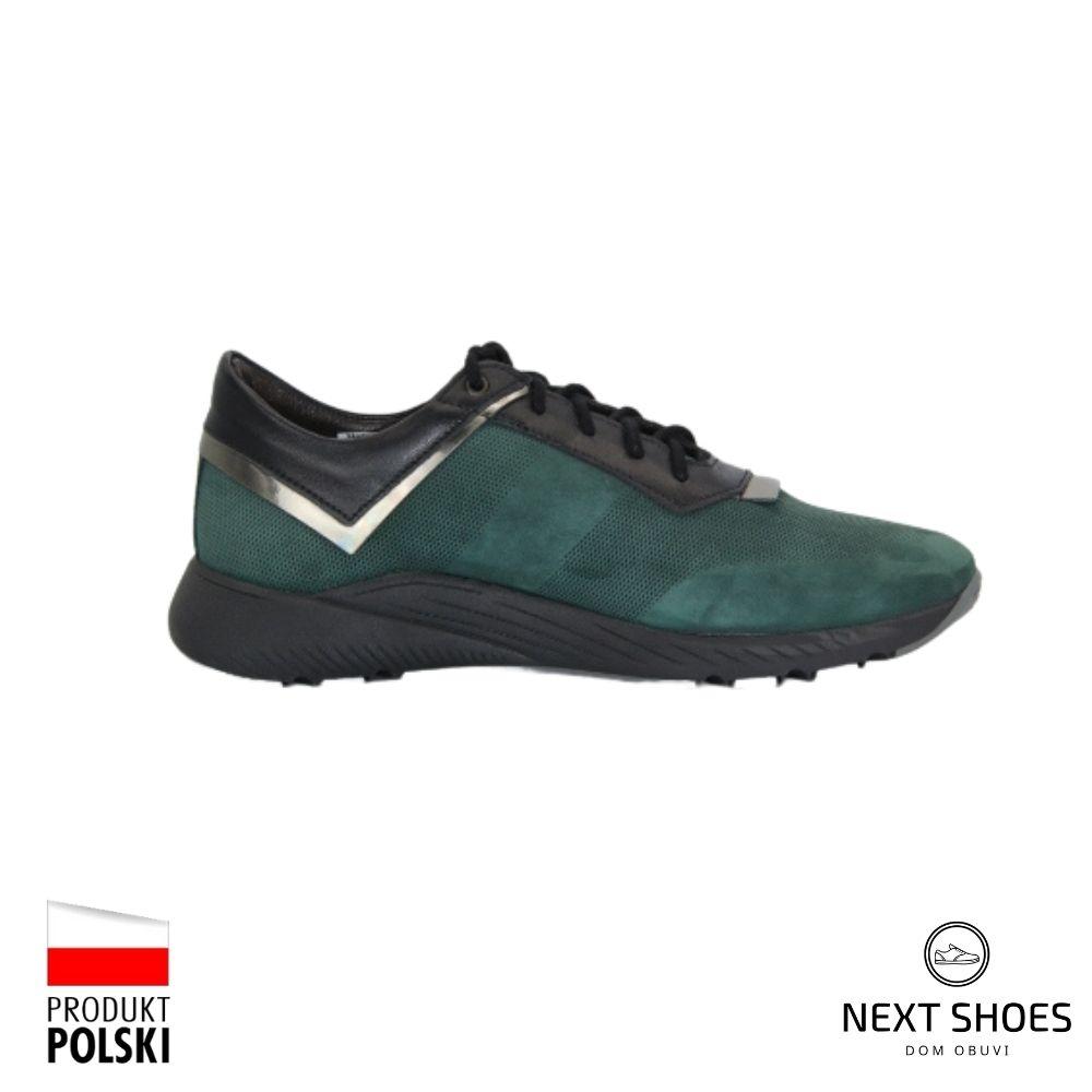 Sneakers women's green NEXT SHOES (Poland) demi-season art 196-p26-z115 model 4530