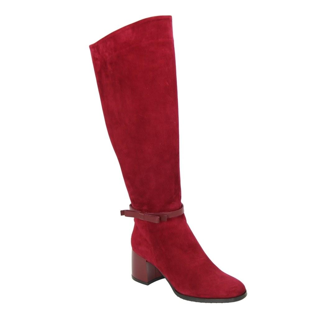 Женские красные сапоги демисезонные NEXT SHOES (Польша) Натуральная кожа, арт 1722040-707 модель 4543
