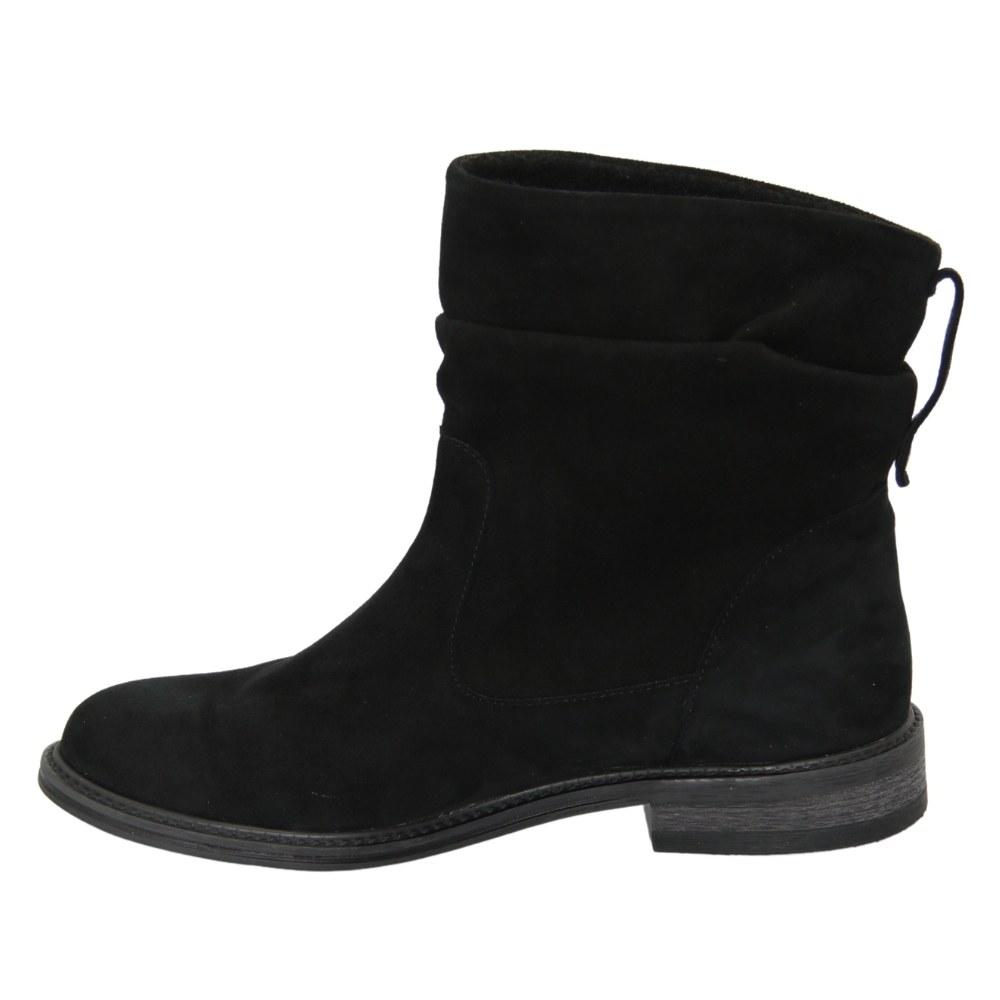 Women's black boots at low speed demi-season NEXT SHOES (Poland) Natural suede, art 19639-czarny19-zamsh model 4569
