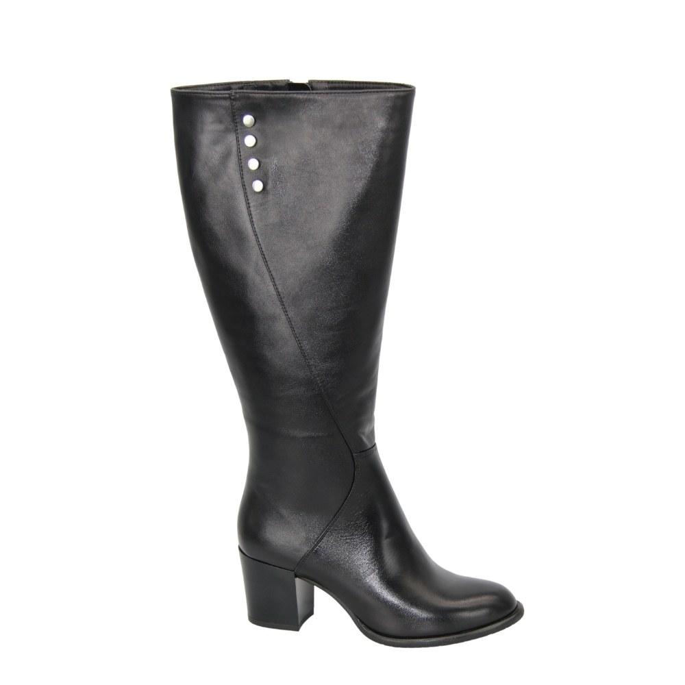 Женские черные сапоги зимние NEXT SHOES (Польша) Натуральная кожа, арт 1724970-790 модель 4589