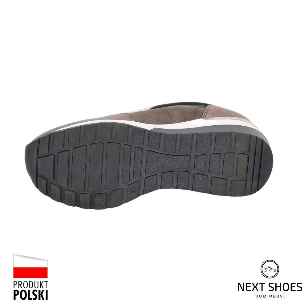 Shoes sneakers female brown NEXT SHOES (Poland) demi-season art model 4592