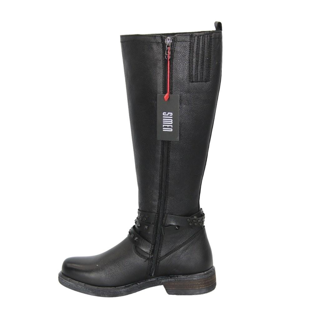 Женские черные сапоги зимние NEXT SHOES (Польша) Натуральная кожа, арт 1999 модель 4595