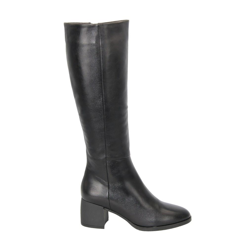 Женские черные сапоги демисезонные NEXT SHOES (Польша) Натуральная кожа, арт 1770790-707 модель 4634