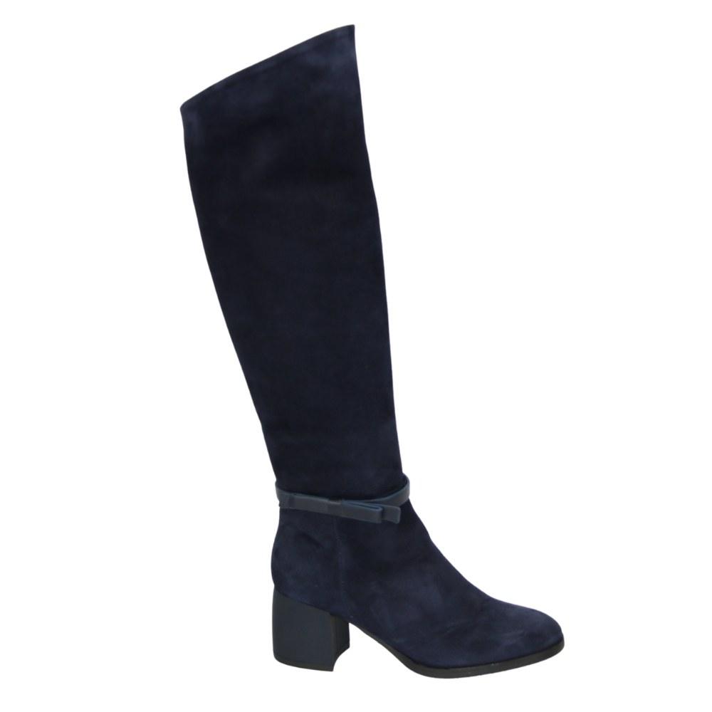 Женские синие сапоги зимние NEXT SHOES (Польша) Натуральная кожа, арт 1712040-707 модель 4635
