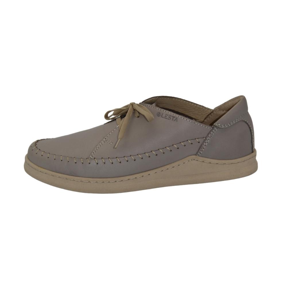 Женские серые туфли комфорт на шнуровке демисезонные NEXT SHOES (Польша) Натуральная кожа, арт 241-4305-102b8 модель 4642