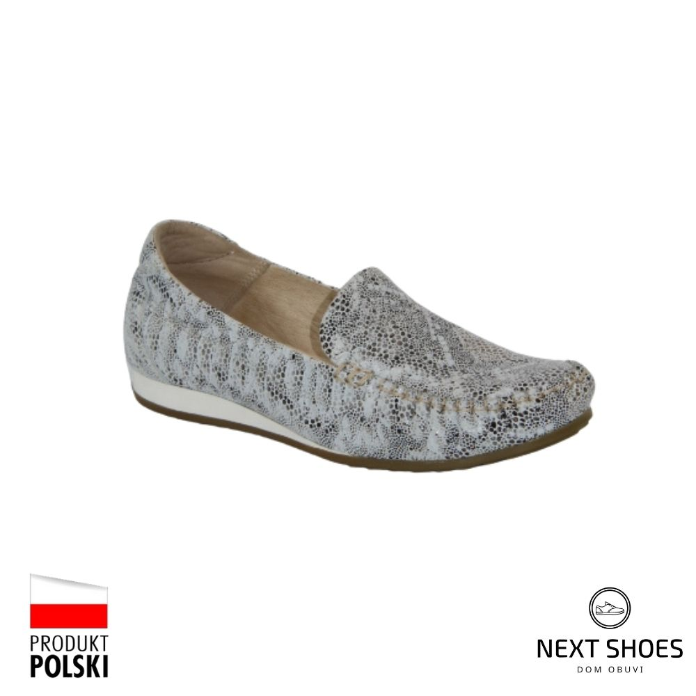 Moccasins female multi-colored NEXT SHOES (Poland) summer art model 4657