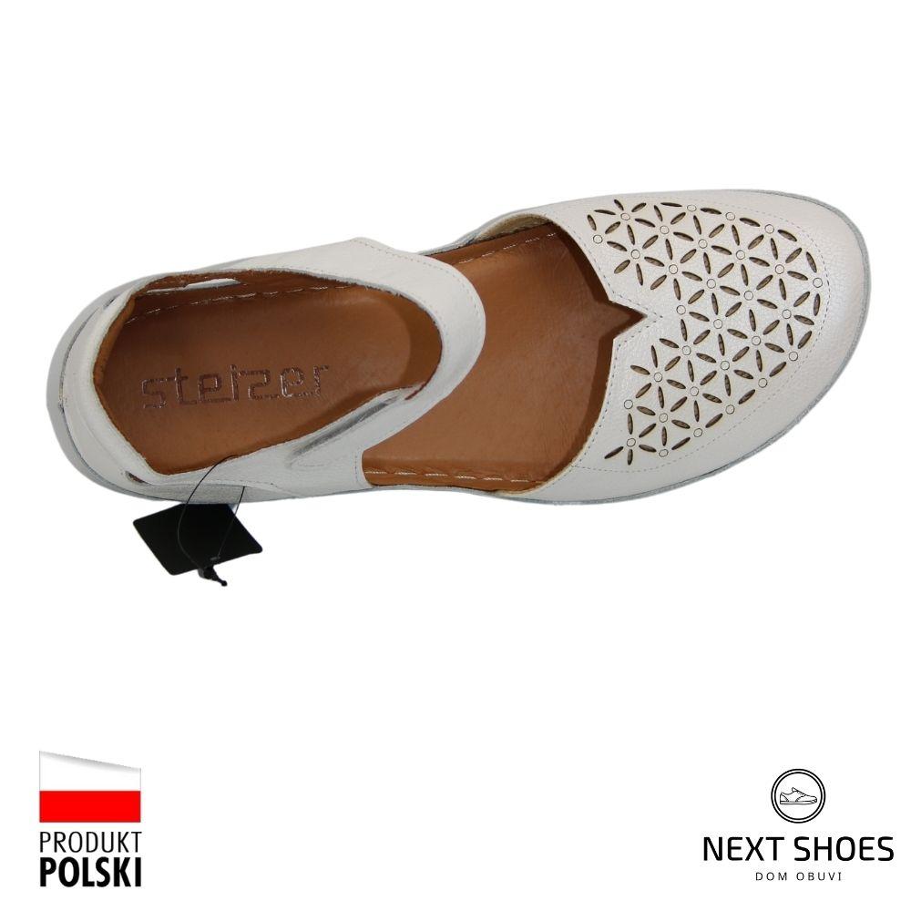 Women's white sandals NEXT SHOES (Poland) summer art 154l9 model 4664