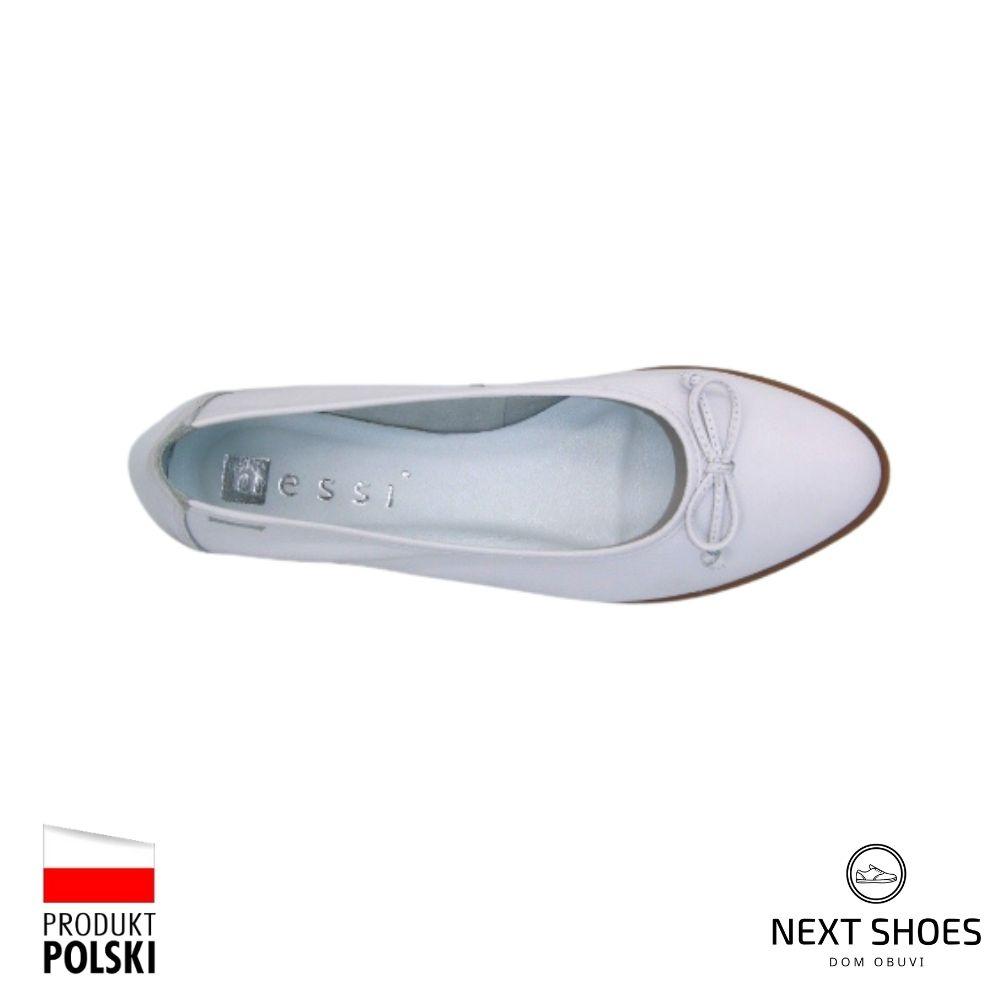 Балетки женские белые NEXT SHOES (Польша) летние арт 77706 модель 4680
