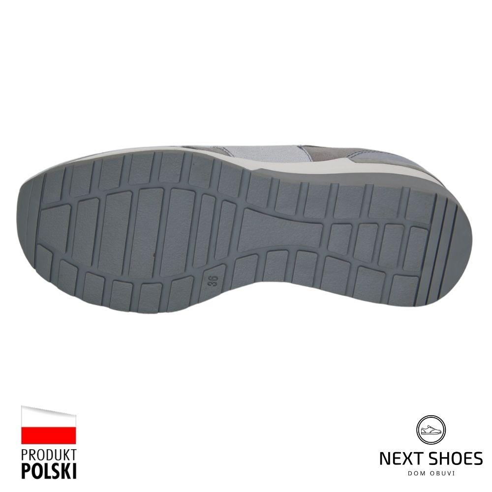 Women's gray shoes NEXT SHOES (Poland) demi-season art model 4685
