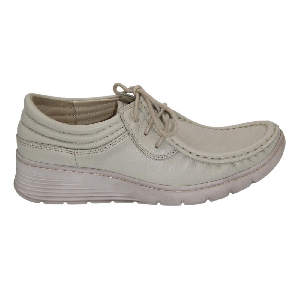 Женские серые туфли комфорт на шнуровке демисезонные NEXT SHOES (Польша) Натуральная кожа, арт 381 модель 4686